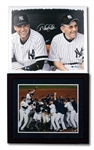 N.Y. YANKEES PAIR OF DEREK JETER & YOGI BERRA DUAL-SIGNED 20x24 CANVAS PRINT AND PETTITTE/MATSUI DUAL-SIGNED 2009 WORLD CHAMPS 16x20 PHOTO (STEINER, MLB AUTH.)