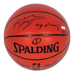 "KOBE BRYANT SIGNED AND ""5X CHAMPS"" INSCRIBED SPALDING BASKETBALL – LE 4/124 (PANINI COA)"