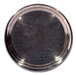1953 NEW YORK YANKEES (5TH STRAIGHT) WORLD SERIES CHAMPIONS SERVING TRAY (NEWARK BEARS EXECUTIVE PROVENANCE)