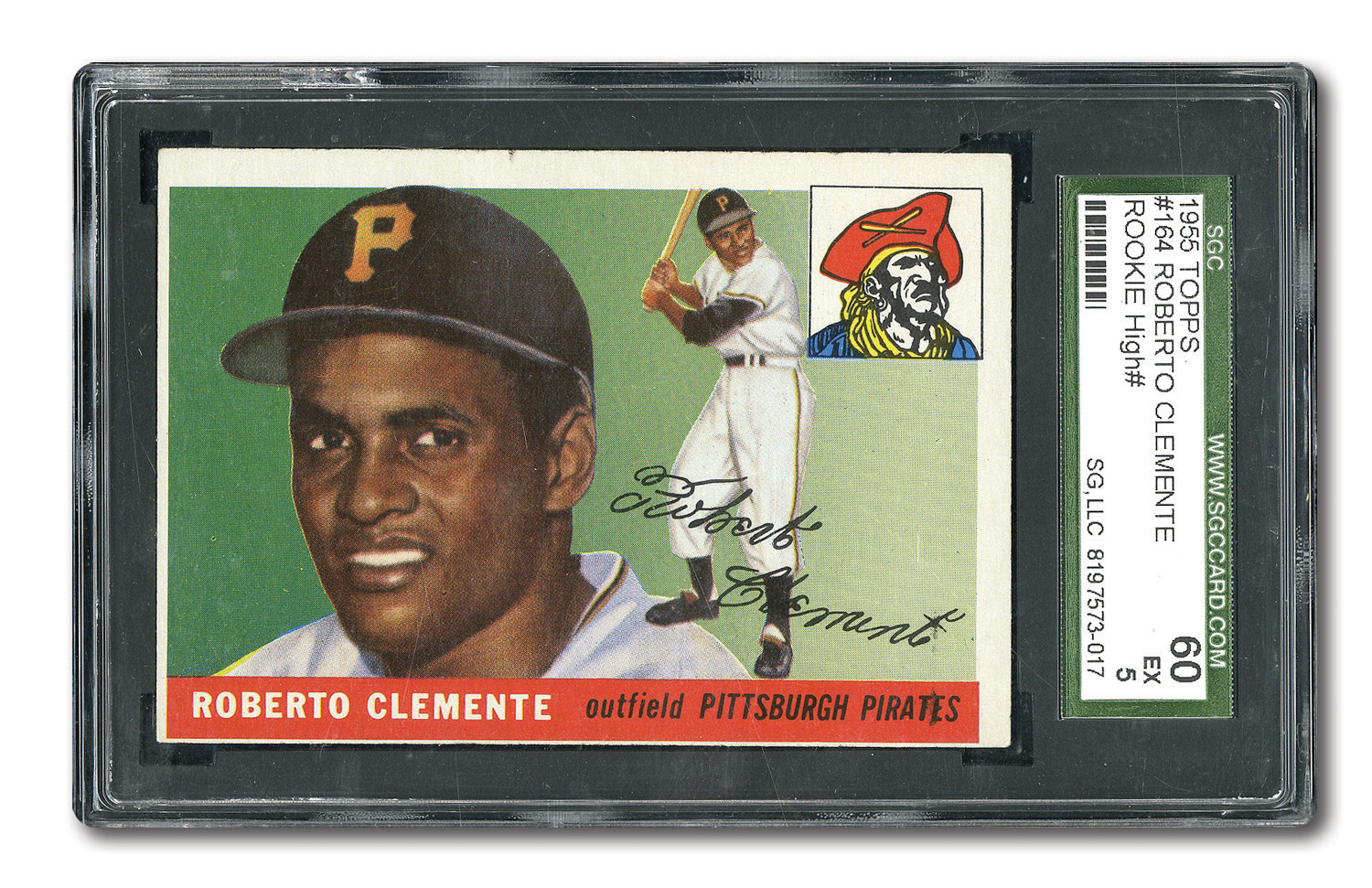 Lot Detail 1955 Topps 164 Roberto Clemente Rookie Sgc