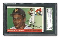 1955 TOPPS #164 ROBERTO CLEMENTE ROOKIE – SGC 60 EX 5