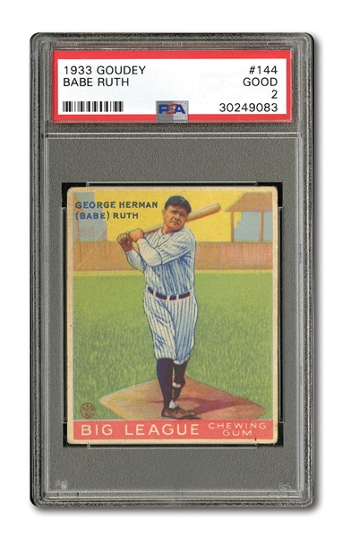 1933 GOUDEY #144 BABE RUTH PSA GOOD 2