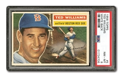 1956 TOPPS #5 TED WILLIAMS (WHITE BACK) PSA NM-MT 8