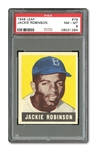 1948 LEAF #79 JACKIE ROBINSON ROOKIE PSA NM-MT 8