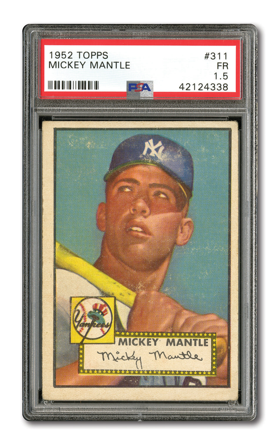 Lot Detail 1952 Topps 311 Mickey Mantle Psa Fr 15