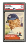 1953 TOPPS #82 MICKEY MANTLE PSA VG+ 3.5