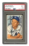 1952 BOWMAN #101 MICKEY MANTLE PSA EX+ 5.5
