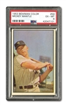 1953 BOWMAN #59 MICKEY MANTLE PSA EX-MT 6