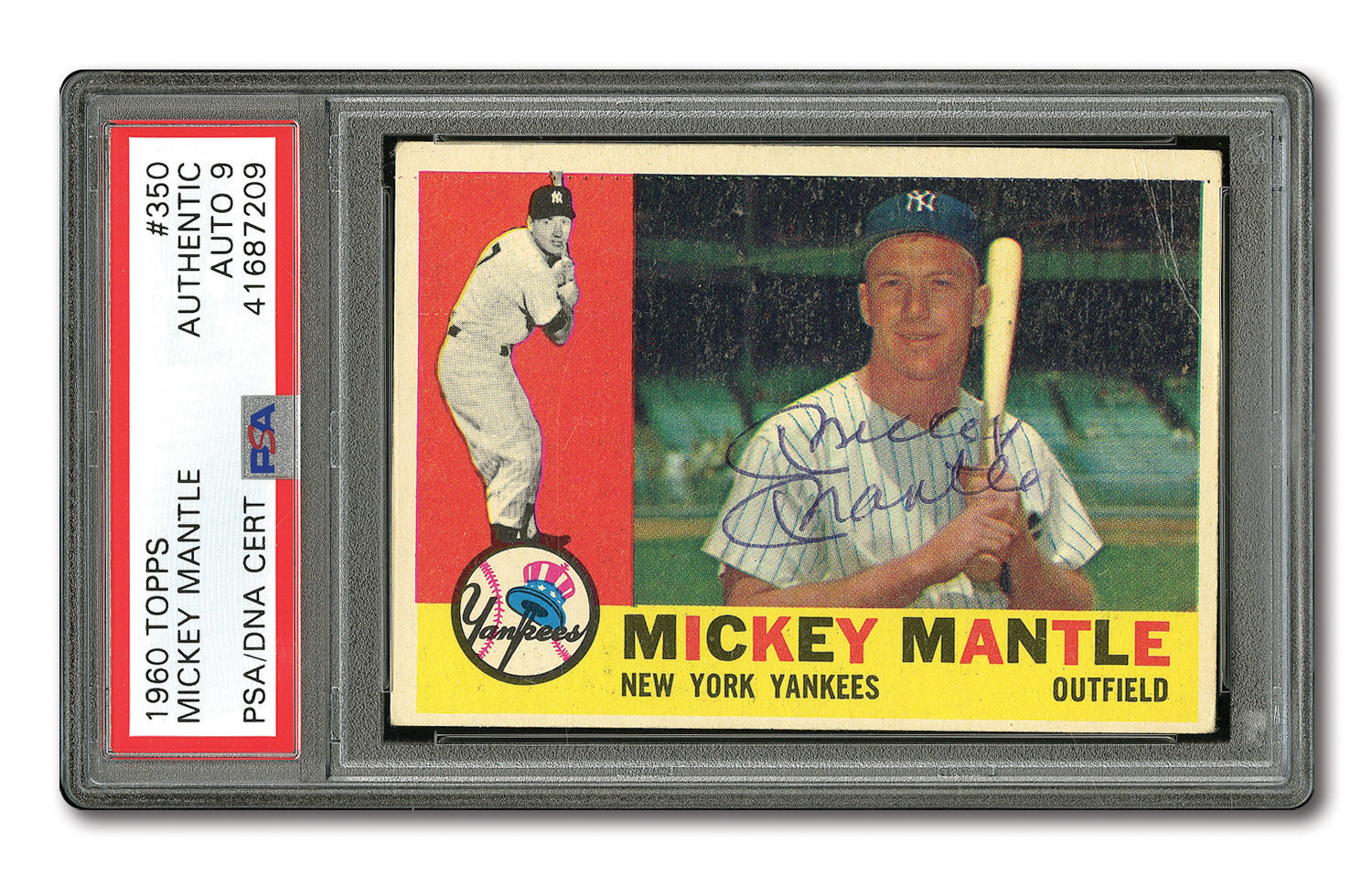 Lot Detail Mickey Mantle Autographed 1960 Topps 350 Card