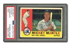 MICKEY MANTLE AUTOGRAPHED 1960 TOPPS #350 CARD (PSA/DNA MINT 9 AUTO.)