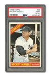 1966 TOPPS #50 MICKEY MANTLE PSA MINT 9 (OC)