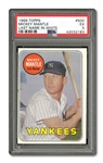 1969 TOPPS #500 MICKEY MANTLE (LAST NAME IN WHITE) PSA EX 5