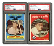 1959 TOPPS #10 MICKEY MANTLE (PSA EX-MT 6) AND #564 MICKEY MANTLE ALL-STAR (PSA EX 5)