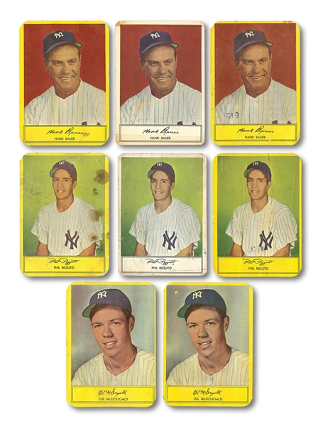 1953-55 STAHL-MEYER LOT OF (8) NEW YORK YANKEES