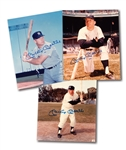 LOT OF (3) MICKEY MANTLE AUTOGRAPHED 8x10 PHOTOS