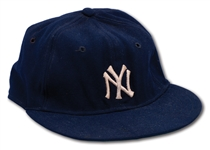 C. 1950S MICKEY MANTLE NEW YORK YANKEES GAME USED CAP (MEARS LOA)