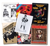 LOT OF (6) MUHAMMAD ALI FIGHT PROGRAMS (1966-1980 INCL. FRAZIER & FOREMAN) PLUS ALI SIGNED 8x10 PHOTO