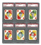 1951 TOPPS BLUE BACKS COMPLETE SET OF (52) WITH 6 PSA GRADED NOTABLES