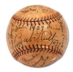 1927 NEW YORK YANKEES WORLD CHAMPIONS TEAM SIGNED OAL (JOHNSON) BASEBALL INCL. RUTH & GEHRIG