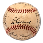 1937 NEW YORK YANKEES WORLD CHAMPIONS TEAM SIGNED OAL (HARRIDGE) BASEBALL WITH BOLD GEHRIG