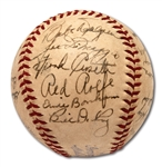 1940 NEW YORK YANKEES TEAM SIGNED OAL (HARRIDGE) BASEBALL