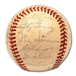 1941 NEW YORK YANKEES WORLD CHAMPIONS TEAM SIGNED OAL (HARRIDGE) BASEBALL