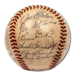 1943 NEW YORK YANKEES WORLD CHAMPIONS TEAM SIGNED OAL (HARRIDGE) BASEBALL