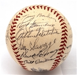 1944 NEW YORK YANKEES TEAM SIGNED OAL (HARRIDGE) BASEBALL