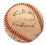 1946 NEW YORK YANKEES TEAM SIGNED OAL (HARRIDGE) BASEBALL