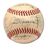 1947/48 NEW YORK YANKEES TEAM SIGNED OAL (HARRIDGE) BASEBALL