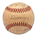 1948 NEW YORK YANKEES TEAM SIGNED OAL (HARRIDGE) BASEBALL