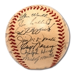 1952 NEW YORK YANKEES WORLD CHAMPIONS TEAM SIGNED OAL (HARRIDGE) BASEBALL