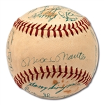 1957 NEW YORK YANKEES AMERICAN LEAGUE CHAMPIONS TEAM SIGNED OAL (HARRIDGE) BASEBALL