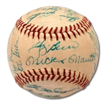 1960 NEW YORK YANKEES AMERICAN LEAGUE CHAMPIONS TEAM SIGNED OAL (CRONIN) BASEBALL