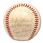 1965 NEW YORK YANKEES TEAM SIGNED OAL (CRONIN) BASEBALL