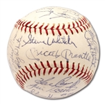 1966 NEW YORK YANKEES TEAM SIGNED OAL (CRONIN) BASEBALL