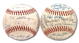 1968 AND 1969 NEW YORK YANKEES TEAM SIGNED OAL (CRONIN) BASEBALLS