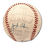 1971 NEW YORK YANKEES TEAM SIGNED BASEBALL INCL. THURMAN MUNSON