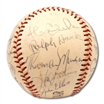 1972 NEW YORK YANKEES TEAM SIGNED BASEBALL INCL. THURMAN MUNSON