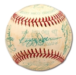 1977 NEW YORK YANKEES WORLD CHAMPIONS TEAM SIGNED OAL (MacPAIL) BASEBALL