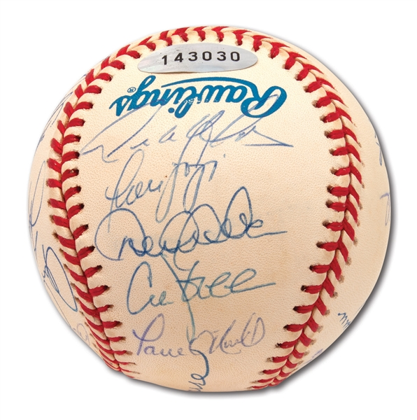 1999 NEW YORK YANKEES WORLD CHAMPIONS TEAM SIGNED OFFICIAL 1999 WORLD SERIES BASEBALL