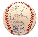 2000 NEW YORK YANKEES WORLD CHAMPIONS TEAM SIGNED OFFICIAL 2000 WORLD SERIES BASEBALL
