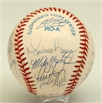 1998 NEW YORK YANKEES WORLD CHAMPIONS TEAM SIGNED OAL (BUDIG) BASEBALL
