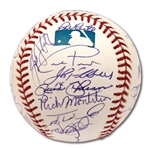 2005 NEW YORK YANKEES TEAM SIGNED OML BASEBALL