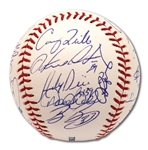 2006 NEW YORK YANKEES TEAM SIGNED OML BASEBALL