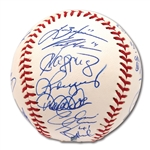2010 NEW YORK YANKEES TEAM SIGNED OML BASEBALL