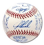 2016 NEW YORK YANKEES TEAM SIGNED OML BASEBALL