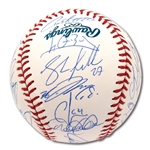 2013 NEW YORK YANKEES TEAM SIGNED OML BASEBALL