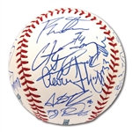 2017 NEW YORK YANKEES TEAM SIGNED OML BASEBALL INCL. ROOKIE AARON JUDGE