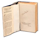 BABE RUTH AUTOGRAPHED 1928 LIMITED EDITION (86/1,000) COPY OF BABE RUTH'S BOOK OF BASEBALL WITH DUST JACKET